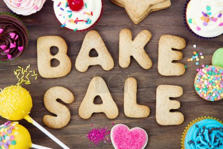 Photo for Cookies spelling bake sale - Royalty Free Image