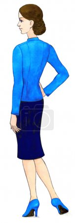 Watercolor. Woman dressed in a business style