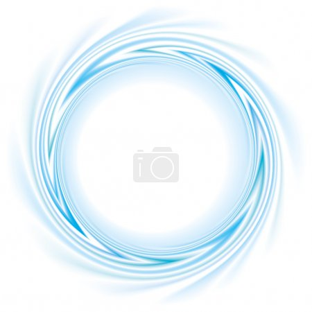 Illustration pour Cadre vectoriel avec boucle spirale les bandes bleues - image libre de droit