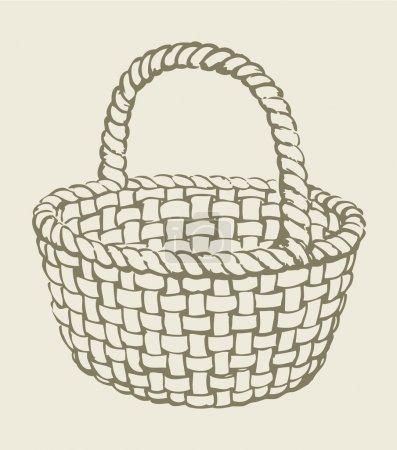 Vector wickerwork basket