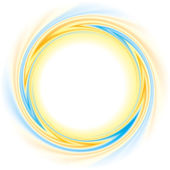 Abstract vector background Round frame of rotating opposite colors