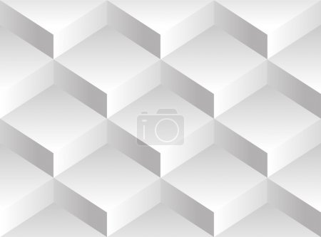Vector background pattern. Volume blocks stacked on one another