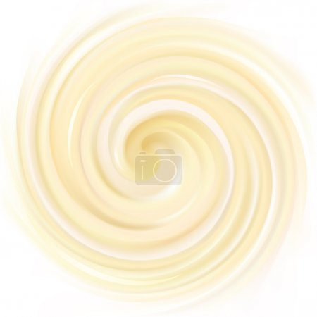 Vector background of swirling creamy texture