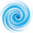 Vector background of blue swirling water texture...