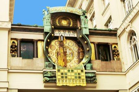 Ankeruhr (Anker clock) in Vienna (Austria) built by Franz von Ma