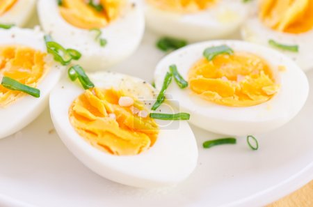 Photo for Boiled eggs on plate - Royalty Free Image