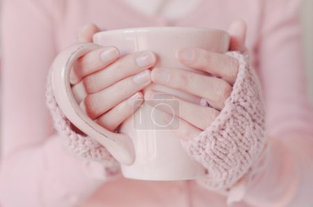 Photo for Tea. Woman holding tea cup. - Royalty Free Image