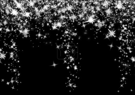 Photo for Black Background with stars - Royalty Free Image