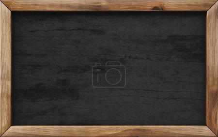 Photo for Wooden menu board. - Royalty Free Image