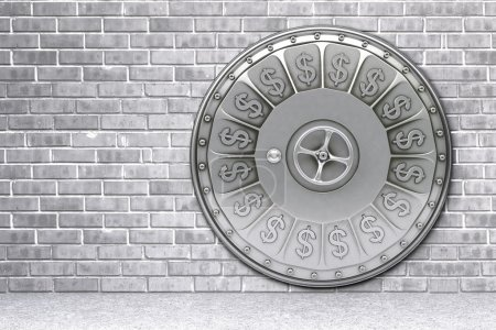 Photo for The closed door of a bank vault. - Royalty Free Image