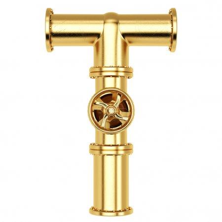 Golden Alphabet T letter