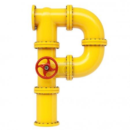 Alphabet P letter