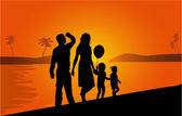 Family on vacations  vector work