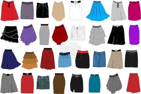 Skirts-icon vector