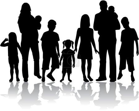 Illustration pour Profils de grande famille - image libre de droit