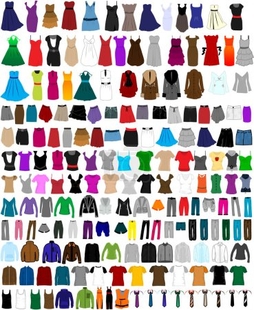 Big collection of clothes and accessories...