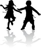 Děti siluety