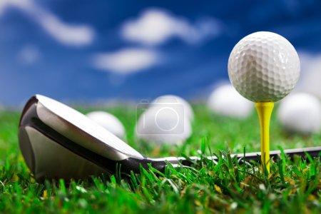 Photo pour Boule de golf sur l'herbe verte. Studio Shot ! - image libre de droit