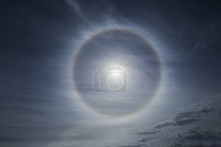 Halo effect on the sky