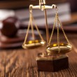 Mallet, legal code and scales of justice. Law conc...
