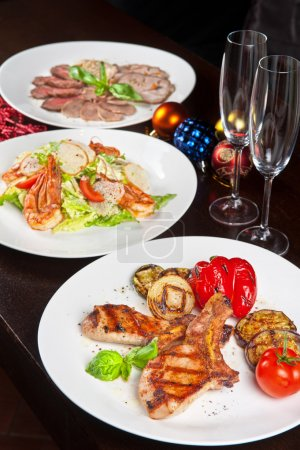 Photo for Christmas dishes for Holiday dinner - Royalty Free Image