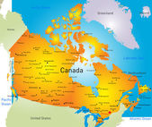 Vector map of Canada country