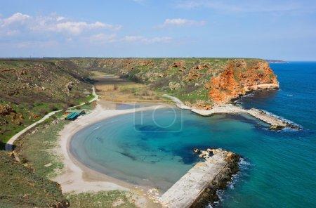 Small Peaceful Beach on Bulgarian Black Sea Coast