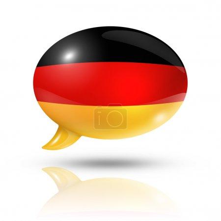 German flag speech bubble