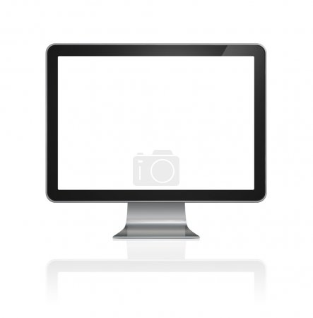 Photo for 3D computer, TV screen, isolated on white with clipping path - Royalty Free Image