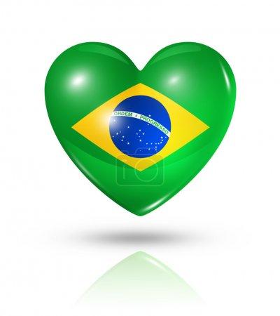Love Brazil, heart flag icon