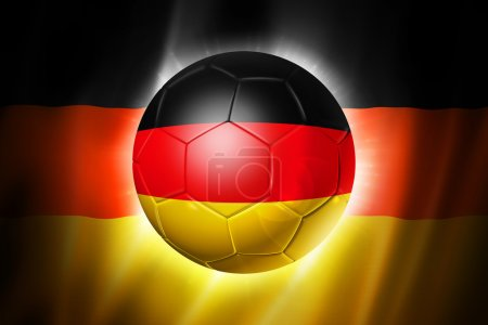 Soccer football ball with Germany flag