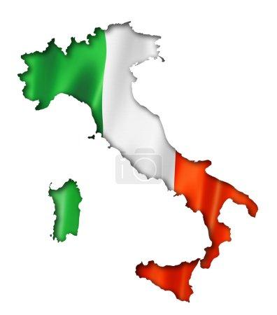 Italian flag map