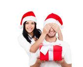 Christmas holiday couple