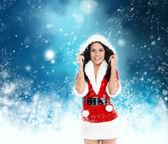 Christmas new year santa girl