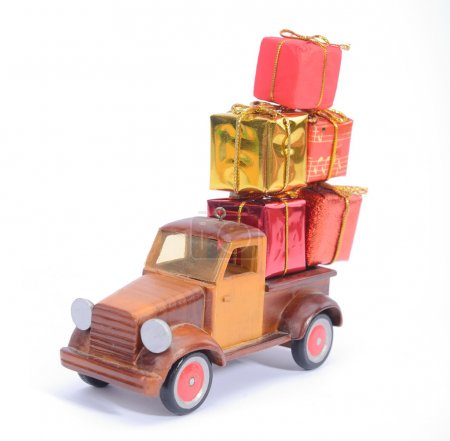 Photo for Truck with gifts, - Royalty Free Image