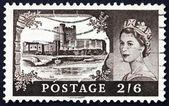 Poštovní známka gb 1955 carrickfergus castle, Irsko