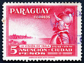 Postage stamp Paraguay 1942 Domingo Martinez de Irala, Spanish C