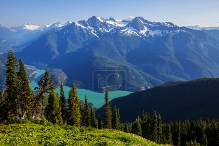 Photo pour Lac Diablo, washington - image libre de droit