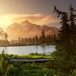 Picture Lake and Mount Shuksan,Washington...