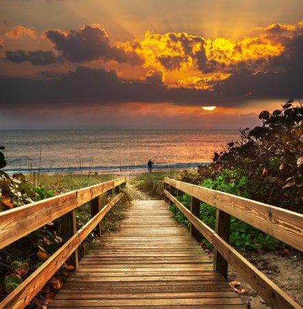 Photo pour Promenade sur la plage - image libre de droit