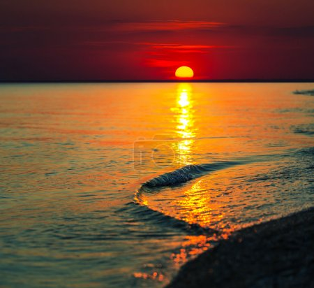 Photo for Sea sunset - Royalty Free Image