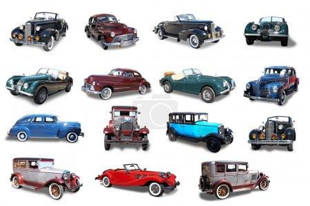 Collage. Retro the car