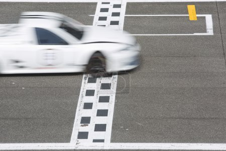 Race car Crossing the finish line