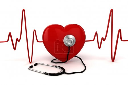 Photo for 3d big red heart health and medicine concept - Royalty Free Image