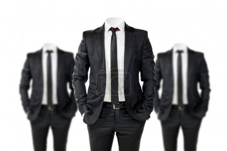 Photo for Business man in black suit with no face - Royalty Free Image