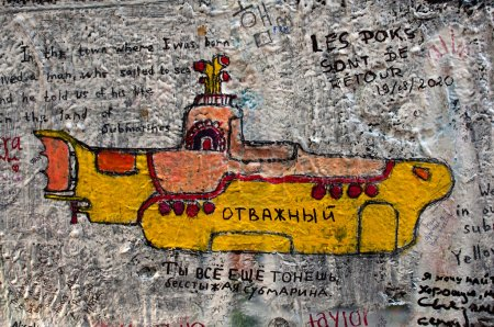 Lennon wall in Prague