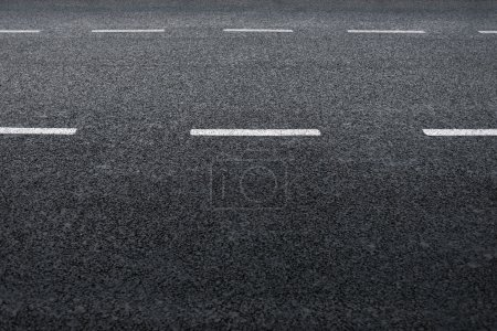 Photo for Asphalt road, detail of fresh new traffic road. - Royalty Free Image