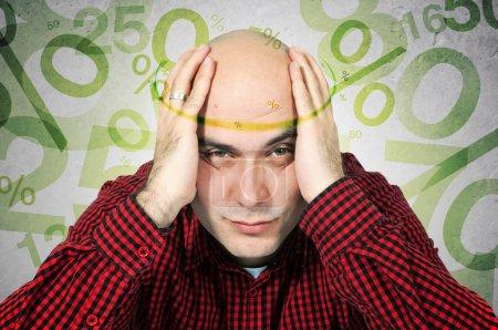 Mortgage headache concept