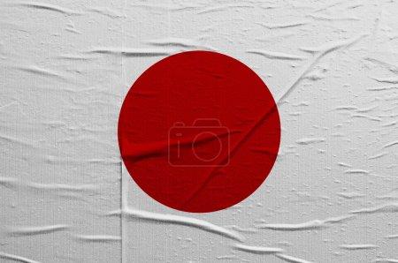 Photo pour Drapeau grunge du Japon, l'illustration recouvre une texture grunge - image libre de droit