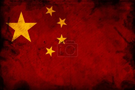 Photo for Grunge China flag, image is overlaying a detailed grungy texture - Royalty Free Image